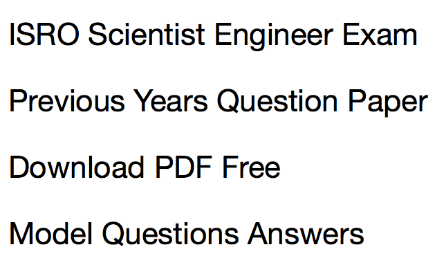 Isro scientist previous years question paper download pdf solved fandeluxe Images