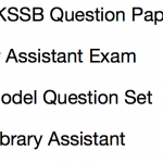 JKSSB Assistant Previous Year Question Paper Download Junior Library Laboratory