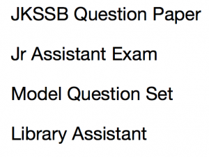jkssb junior assistant previous years question paper download old jr library laboratory old solved answer key model mcq questions solved practice ser jammu kashmir