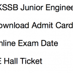 JKSSB JE Admit Card 2017 Exam Date Download Junior Engineer
