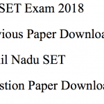 TN SET Previous Years Question Paper Download PDF Solved MCQ