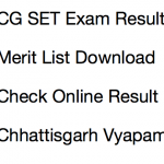 CG SET Result 2017 18 Cut Off Marks CGVyapam Chhattisgarh Result