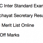 JSSC Panchayat Secretary Result 2017-18 LDC Cut Off Marks Merit List
