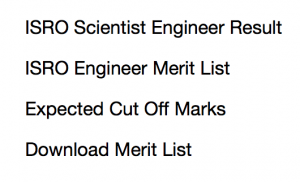 isro scientist result 2017 2018 expected cut off marks merit list engineer b expected date civil mechanical electrical electronics