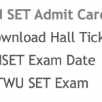 TNSET Admit Card 2018 MTWU SET Hall Ticket Admit Card Download