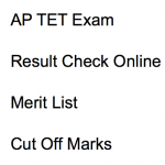 AP TET Result 2017-18 Cut Off Marks Merit List aptet.cgg.gov.in