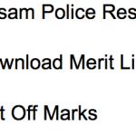 Assam Police Constable Result 2017-18 Merit List Cut Off Marks