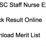 UPPSC Staff Nurse Result 2017 Cut Off Marks Merit List Male Female