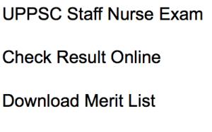 uppsc staff nurse result 2017 merit list exam selection list written test uttar pradesh psc final selection list male female post