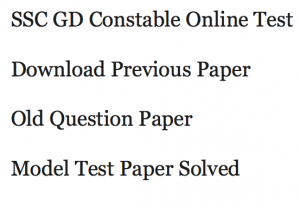 ssc gd constable previous years question paper download old solved set solution staff selection commission pdf answer key model practice sample set