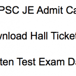 WBPSC JE Admit Card 2018 Junior Engineer Exam Date Hall Ticket Download
