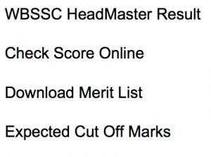 wbssc headmaster result 2017 2018 headmistress slst merit list expected cut off marks selection list waiting list hm west bengal staff selection commission westbengalssc.com