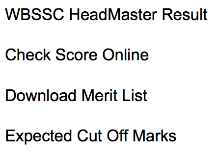 WBSSC Headmaster Result 2019 Counselling Intimation Letter