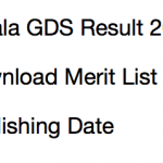 Kerala GDS Result 2017 Merit List Gramin Dak Sevak Cut Off Date