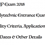 JEECUP 2018 Notification UP JEE Polytechnic Entrance Exam Date Application Form