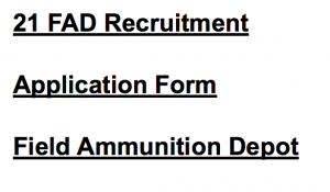 field ammunition depot recruitment 2017 2018 download application form eligibility criteria 21 27 fad recruitment vacancy ministry of defence jobs tradesman mate ldc