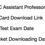 MPPSC Assistant Professor Admit Card 2018 Exam Date Download