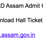 PNRD Assam Admit Card 2018 Exam Date Download Hall Ticket rural.assam.gov.in
