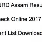 PNRD Assam Result 2018 Cut Off Merit List Written Test rural.assam.gov.in