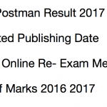 Delhi Postman Result 2017 Post Office Re-Exam Merit List Cut Off
