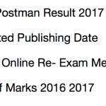 Delhi Postman Result 2017 Post Office Re-Exam Merit List Cut Off