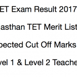 REET Result 2017 Level 1 2 Cut Off Marks Expected Merit List