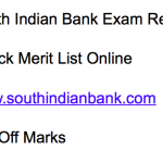 South Indian Bank Clerk Result 2018 Cut Off Marks Merit List