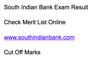 south indian bank result 2018 exam merit list expected cut off marks sib probationary clerk online test