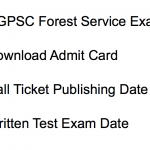 CGPSC Forest Service Admit Card 2018 Exam Date Chhattisgarh