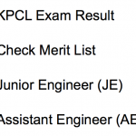 KPCL JE Result 2017 Cut Off Marks Merit List 2018 AE Engineer