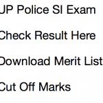 UP Police SI Result 2017 Cut Off Marks Re Exam Merit List Date PRPB