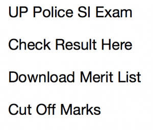 up police si result 2017 re exam merit list expected cut off marks uttar pradesh police sub inspector written test uppbpb police recruitment promotion board prpb.gov.in