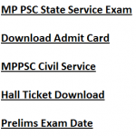 MP State Service Admit Card 2017-18 Download Exam Date MPPSC SSE