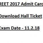 REET Admit Card 2017 Download Hall Ticket rajeduboard.rajasthan.gov.in