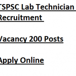 TSPSC Lab Technician Recruitment 2018 Vacancy 200 Posts
