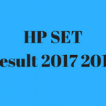 HP SET Result 2017 Cut Off Marks Merit List HPPSC Publishing Date