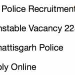 CG Police Constable Recruitment 2018 Notification Vacancy 2259 Posts
