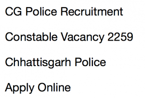 chhattisgarh police constable recruitment notification application form