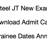 Vizag Steel JT Admit Card 2017-18 Exam Date Download Junior Trainee