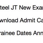 Vizag Steel JT Admit Card 2017-18 Exam Date Download Junior Trainee