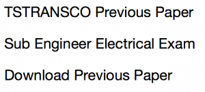 tstransco sub enginee previous years question paper download solved pdf se electrical old solved test practice set sample model mock test set free download pf solved with answer key solution