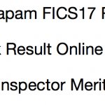 CGVyapam Food Inspector Result 2017 Cut Off Marks Merit List FICS17