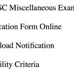 WBPSC Miscellaneous Exam 2018 Recruitment Notification Vacancy pswbonline.gov.in