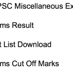 WBPSC Miscellaneous Result 2018 Cut Off Prelims Merit List Date