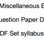WB Miscellaneous Exam Previous Paper Download Question Solved PDF