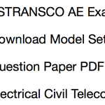 TSTRANSCO AE Previous Paper Download Solved PDF Electrical Civil Telecom