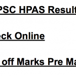 HPAS Result 2018 HPPSC Prelims Cut Off Marks Expected Date