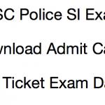 OSSC Police SI Admit Card 2018 Exam Date Written Test Hall Ticket Odisha