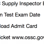 OSSC Supply Inspector Exam Date Admit Card 2017 Odisha Download