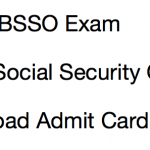 OSSC Block Social Security Officer Admit Card 2017 Exam Date BSSO